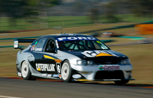 2003 Australian V8 SupercarsOran Park, Sydney, Australia. 17th August 2003.Ford driver Craig Lowndes in action on his way to finishing second in the 300km race today at Oran Park. World Copyright: Mark Horsburgh/LAT Photographicref: Digital Image Only