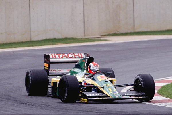 1992 South African Grand Prix.Kyalami, South Africa. 28/2-1/3 1992.Johnny Herbert (Lotus 102D Ford) 6th position.Ref-92 SA 26.World Copyright - LAT Photographic