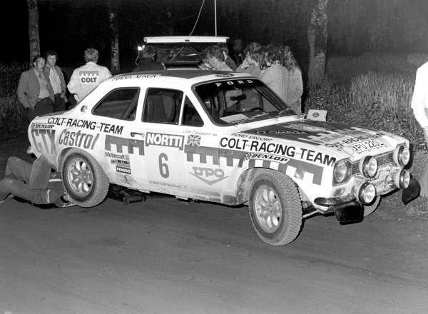 1974 World Rally Championship. 1000 Lakes Rally, Finland, 2nd - 4th August.Hannu Mikola (Ford Escort RS1600) on the way to victory. Action.World Copyright: LAT Photographic.ref: 6663/15 (60mb Scan)