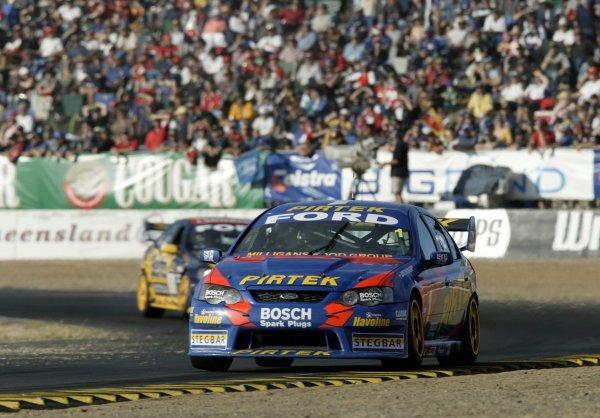 2004 Australian V8 Supercarsrd 6, Queensland Raceway, Brisbane. 4th July.Winner Marcos Ambrose. Action.World Copyright: Mark Horsburgh/LAT Photographicref: Digital Image Only