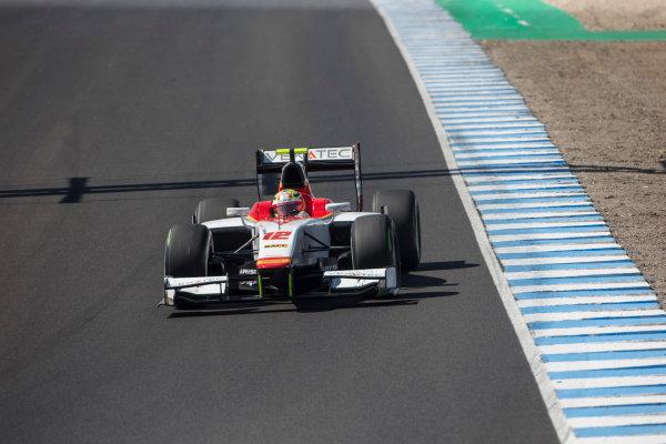 2017 FIA Formula 2 Round 10. Circuito de Jerez, Jerez, Spain. Sunday 8 October 2017. Alex Palou (JPN, Campos Racing).  Photo: Andrew Ferraro/FIA Formula 2. ref: Digital Image _FER3548