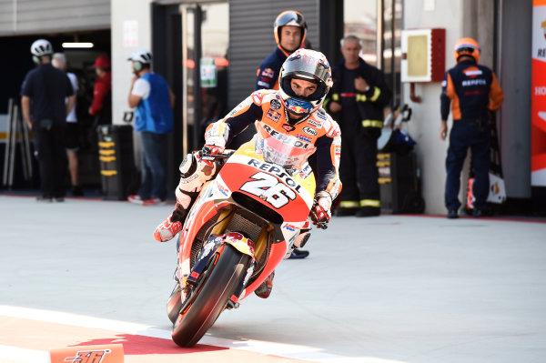 2017 MotoGP Championship - Round 14 Aragon, Spain. Saturday 23 September 2017 Dani Pedrosa, Repsol Honda Team World Copyright: Gold and Goose / LAT Images ref: Digital Image 13645