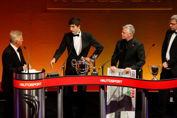 Sunday 2nd December 2012  2012 McLaren Autosport BRDC Young Driver of the Year Award winner Jake Dennis. World Copyright:Glenn Dunbar/  ref: Digital Image _G7C6279