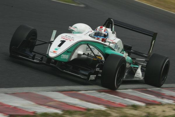 2010 Japanese Formula Three ChampionshipOkayama, Japan. 4th September 2010.2010 Champion Yuji Kunimoto ( #1 PETRONAS TEAM TOM'S ) action.World Copyright: Yasushi Ishihara/LAT Photographicref: 2010JF3_R12_006
