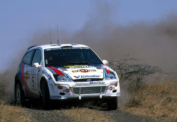 2000 World Rally Championship Round 3, Safari WRC 25th - 27th Feb 2000 Colin McRae & Nicky Grist in action in the Ford Focus. Photo: McKlein  United Kingdon.