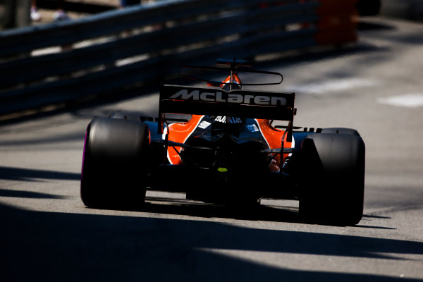 Monte Carlo, Monaco. Saturday 27 May 2017. Jenson Button, McLaren MCL32 Honda.  World Copyright: Charles Coates/LAT Images ref: Digital Image AN7T7379