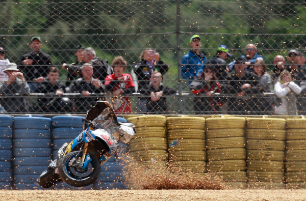 2017 MotoGP Championship - Round 5 Le Mans, France Saturday 20 May 2017 Jack Miller, Estrella Galicia 0,0 Marc VDS crash World Copyright: Gold & Goose Photography/LAT Images ref: Digital Image 671111