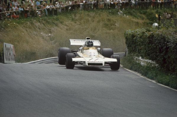 1972 German Grand Prix.  Nurburgring, Germany. 28-30th July 1972.  Graham Hill, Brabham BT37 Ford.  Ref: 72GER41. World Copyright: LAT Photographic