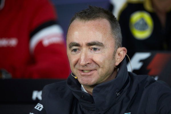 Circuit Gilles Villeneuve, Montreal, Canada. Friday 5 June 2015. Paddy Lowe, Executive Director (Technical), Mercedes AMG, in the Team Principals Press Conference. World Copyright: Steve Etherington/LAT Photographic. ref: Digital Image SNE29298