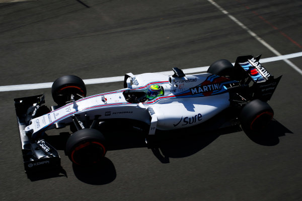 Silverstone, Northamptonshire, England. Friday 03 July 2015. Felipe Massa, Williams FW37 Mercedes. World Copyright: Glenn Dunbar/LAT Photographic. ref: Digital Image _89P0539