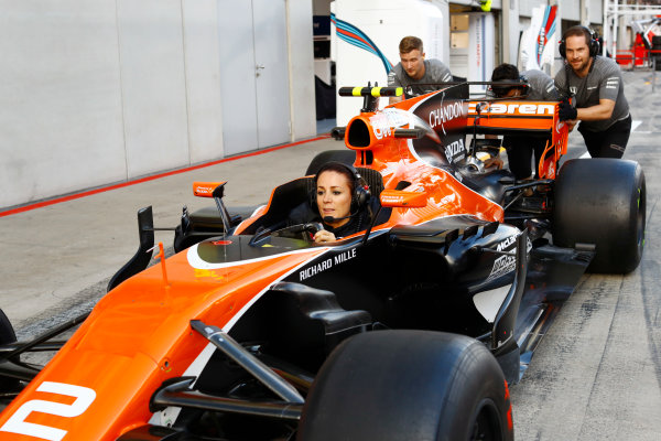 Red Bull Ring, Spielberg, Austria. Thursday 06 July 2017. The McLaren team organise an all-female pit stop. World Copyright: Steven Tee/LAT Images ref: Digital Image _O3I4888