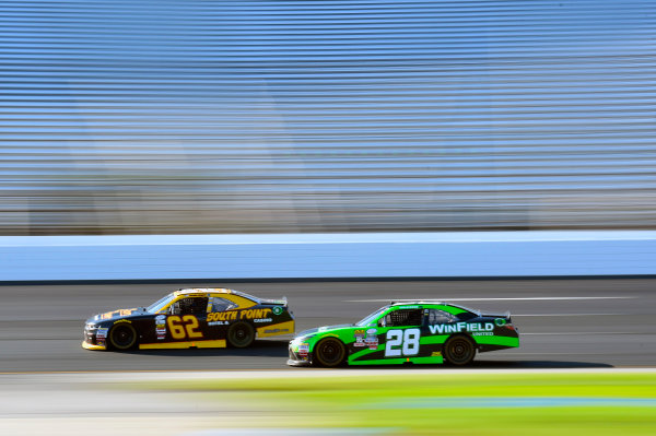 NASCAR XFINITY Series Overton?s 200 New Hampshire Motor Speedway, Loudon, NH USA Saturday 15 July 2017 Brendan Gaughan, South Point Hotel & Casino Chevrolet Camaro and Dakoda Armstrong, JGL Racing Toyota Camry World Copyright: Nigel Kinrade LAT Images