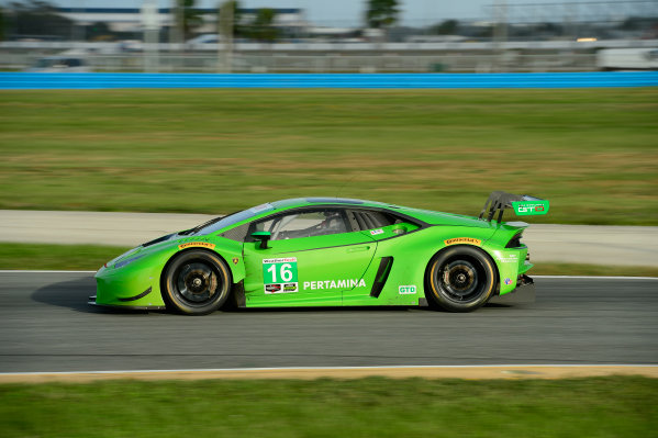 17-18  November,  2015, Daytona Beach, Florida, USA 16, Lamborghini, Huracan, GTD, Bill Sweedler, Townsend Bell, Bryan Sellers, Madison Snow, Bryce Miller ©2015, Richard Dole LAT Photo USA