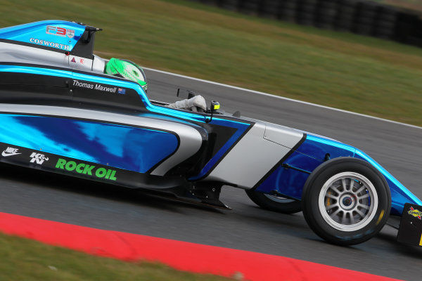 2016 BRDC British Formula 3 Championship, Snetterton, Norfolk. 27th - 28th March 2016. Thomas Maxwell (AUS) Sean Walkinshaw Racing BRDC F3. World Copyright: Ebrey / LAT Photographic.