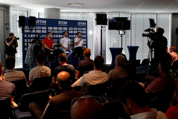 Press Conference: Robin Frijns, Audi Sport Team Abt Sportsline, Philipp Eng, BMW Team RBM, Daniel Juncadella, Mercedes-AMG Team HWA.