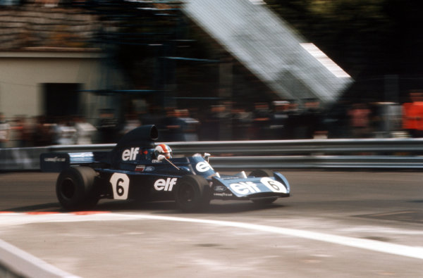 Monte Carlo, Monaco.31/5-3/6 1973.Francois Cevert (Tyrrell 006 Ford) 4th position.Ref-73 MON 54.World Copyright - LAT Photographic