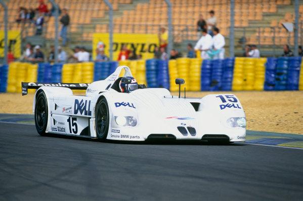Le Mans, France. 12th - 13th June 1999. Pierluighi Martini / Yannick Dalmas / Joachim Winklehock (BMW V12 LMR), 1st position, action. World Copyright: Jeff Bloxham/LAT Photographic. Ref: 99LM07.