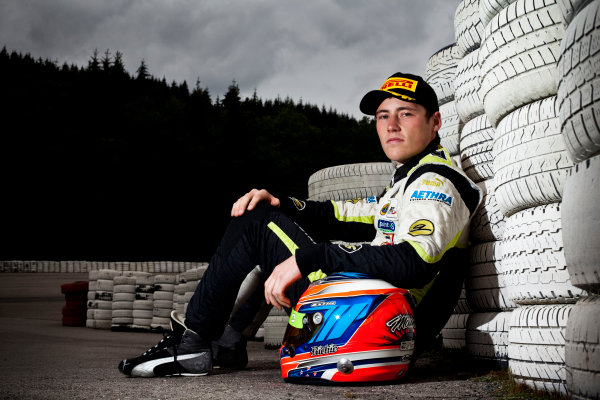 Round 7. Spa-Francorchamps, Spa Belgium. 28th August 2011. Sunday Race. Richie Stanaway, (NZL, Lotus ART), winner of race 14 at round 7 in Spa. Portrait. Photo: Alastair Staley/GP3 Media Service.  ref: Digital Image DG5D1646