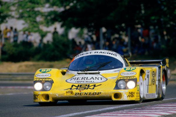 1984 Le Mans 24 hours.Le Mans, France. 16-17 June 1984.Klaus Ludwig/Henri Pescarolo (Porsche 956), 1st position.World Copyright: LAT Photographic. Ref: 84LM12.
