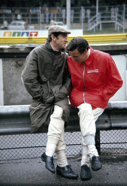 Jim Clark and Jackie Stewart.