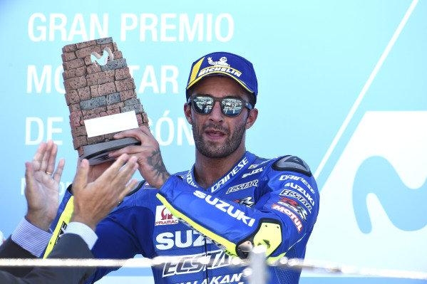 Podium?: third place Andrea Iannone, Team Suzuki MotoGP