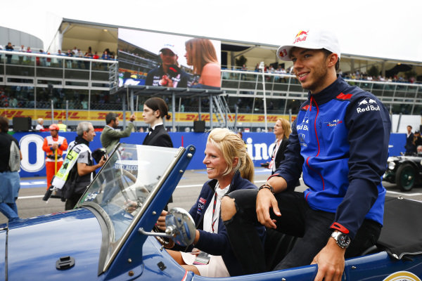 Pierre Gasly, Toro Rosso, on the drivers parade.