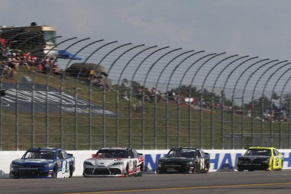 #18: Harrison Burton, Joe Gibbs Racing, Toyota Supra Dex Imaging #8: Ryan Truex, JR Motorsports, Chevrolet Camaro Bar Harbor