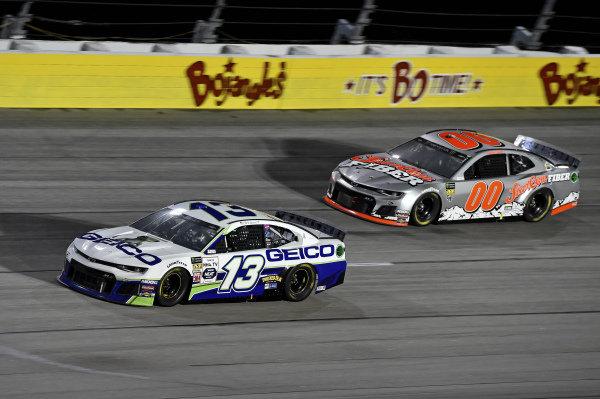 #13: Ty Dillon, Germain Racing, Chevrolet Camaro GEICO, #00: Landon Cassill, StarCom Racing, Chevrolet Camaro StarCom Fiber
