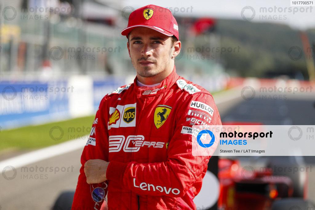Pole winner Charles Leclerc, Ferrari