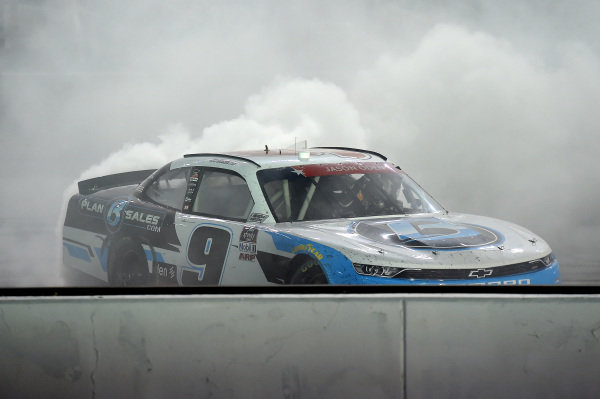 Race winner Noah Gragson, JR Motorsports Chevrolet Plan B Sales, Copyright: Jared C. Tilton/Getty Images.
