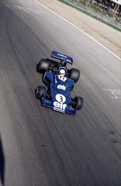 1974 Italian Grand Prix. Monza, Italy.  6-8 September 1974. Jody Scheckter (Tyrrell 007 Ford) 3rd position. World Copyright - LAT Photographic Ref: 74ITA06