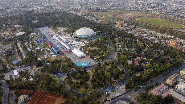 Aerial shots over Santiago