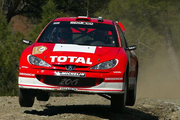 2003 FIA World Rally Championship. Kemer, Turkey. Rd3.26/2-2/3 2003.Richard Burns/Robert Reid (Peugeot 206 WRC) 2nd position.World Copyright: McKlein/LAT Photographic