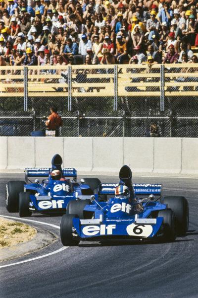 François Cevert, Tyrrell 006 Ford leads teammate Jackie Stewart, Tyrrell 006 Ford.