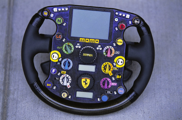 Ferrari F2003-GA steering wheel.