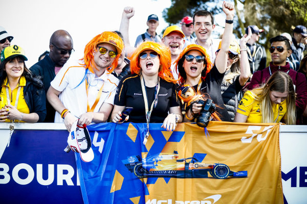 McLaren Fans on the Melbourne Walk