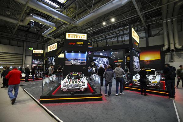 Pirelli stand at Autosport International, Day Two, NEC, Birmingham, England, Friday 12 January 2018.