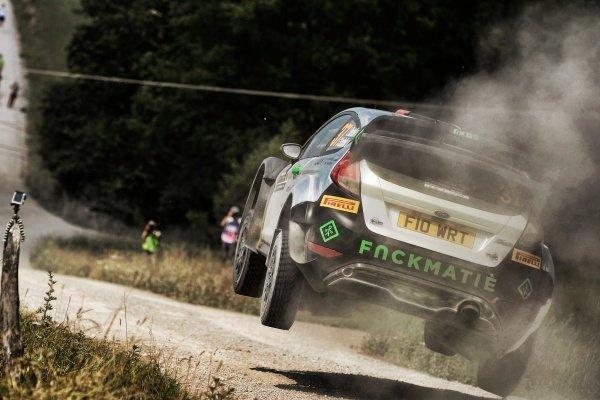 Lorenzo Bertelli (ITA) / Simone Scattolin (ITA), FWRT SRL Ford Fiesta RS WRC at FIA World Rally Championship, Rd7, Rally Poland, Day Two, Mikolajki, Poland, 2 July 2016.