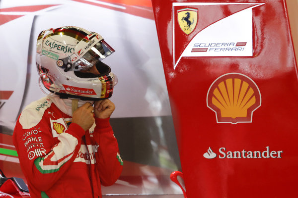 Sebastian Vettel (GER) Ferrari at Formula One World Championship, Rd10, British Grand Prix, Race, Silverstone, England, Sunday 10 July 2016.