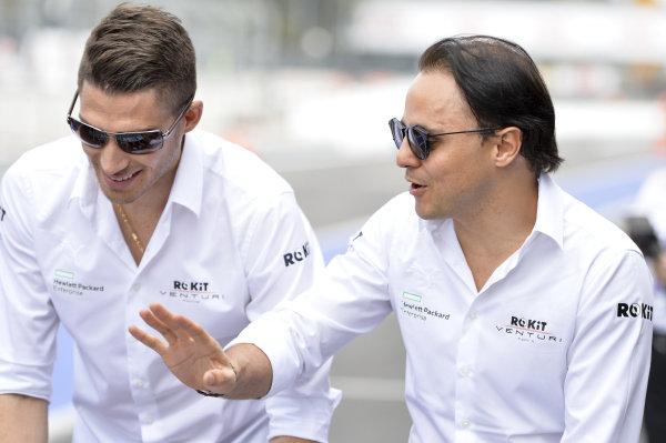 Edoardo Mortara (CHE) Venturi and Felipe Massa (BRA), Venturi