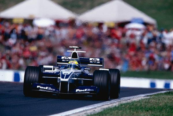 2002 Hungarian Grand Prix.Hungaroring, Budapest, Hungary. 16-18 August 2002.Ralf Schumacher (Williams FW24 BMW) 3rd position.Ref-02 HUN 12.World Copyright - Tee/LAT Photographic