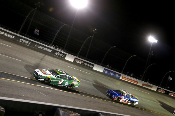 #4: Kevin Harvick, Stewart-Haas Racing, Ford Mustang Hunt Brothers Pizza, #10: Aric Almirola, Stewart-Haas Racing, Ford Mustang Smithfield/Tuesday's Children
