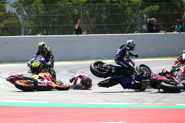 Jorge Lorenzo, Repsol Honda Team crash.