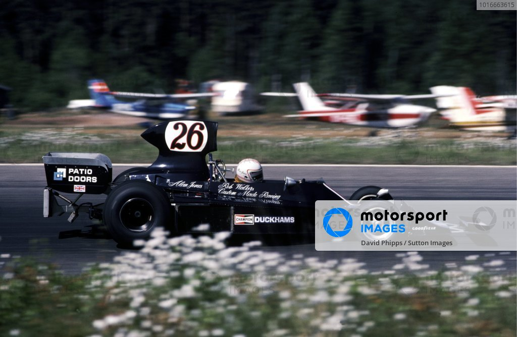Alan Jones (AUS) Custom Made Harry Stiller Racing Hesketh 308B finished eleventh.