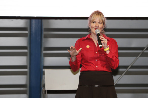 Sydney Kimball, Shell VP of Retail in the Americas at a Shell Eco Event at Formula One World Championship, Rd19, Mexican Grand Prix, Preparations, Circuit Hermanos Rodriguez, Mexico City, Mexico, Thursday 27 October 2016.