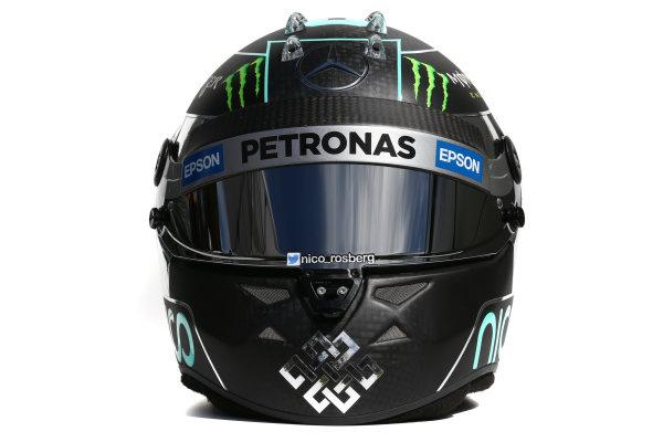 Albert Park, Melbourne, Australia. Helmet of Nico Rosberg, Mercedes AMG.  Thursday 12 March 2015. World Copyright: LAT Photographic. ref: Digital Image 2015_Helmet_058