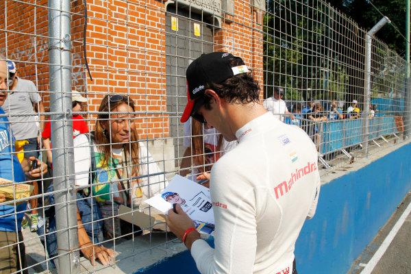 Practice Session 1. Bruno Senna (BRA)/Mahindra Racing - Renault Spark ST_01  FIA Formula E World Championship. Buenos Aires, Argentina, South America. Saturday 10 January 2015.  Copyright: Adam Warner / LAT / FE ref: Digital Image _A8C1411