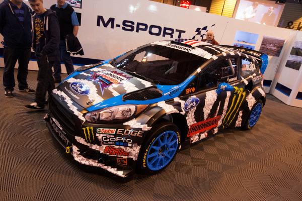 Autosport International Exhibition. National Exhibition Centre, Birmingham, UK. Friday 9 January 2015. Ford on the M-Sport stand. World Copyright: Edd Hartley/Jakob Ebrey/LAT Photographic. ref: Digital Image _MG_1635
