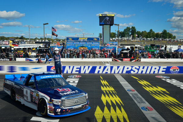 23-24 September, 2016, Loudon, New Hampshire USA William Byron celebrates after winning ?2016, Logan Whitton  LAT Photo USA