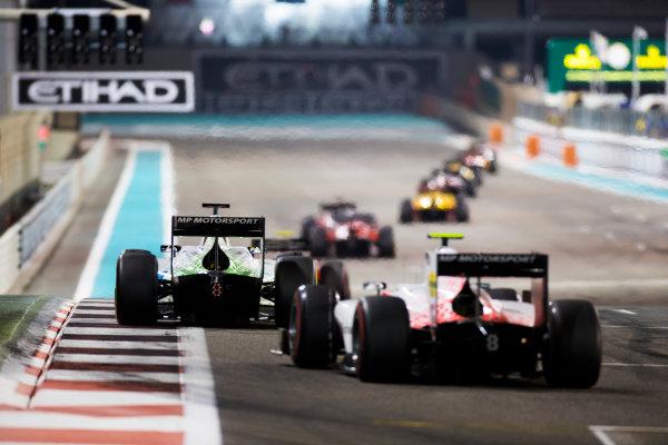 2017 FIA Formula 2 Round 11. Yas Marina Circuit, Abu Dhabi, United Arab Emirates. Saturday 25 November 2017. Sergio Sette Camara (BRA, MP Motorsport).  Photo: Sam Bloxham/FIA Formula 2. ref: Digital Image _W6I3369